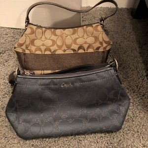 (2) small Coach shoulder bags